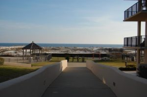 walkway to beach access and Gulf of Mexico