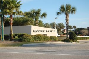 entrance sign to Phoenix East II condo community
